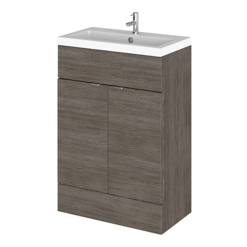 Elite Grey Avola 600mm Full Depth Vanity Unit & Basin